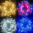 100/200/500/1000 LED String Fairy Lights Plug in Christmas Party Warm White/RGB