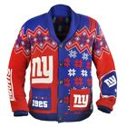 KLEW NFL Men's New York Giants Holiday Ugly Cardigan Sweater $49.99 USD on eBay