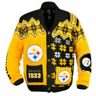 KLEW NFL Men's Pittsburgh Steelers Holiday Ugly Cardigan Sweater $49.99 USD on eBay