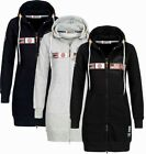 Geographical Norway Damen Sweatjacke Kapuzenpullover Sweater übergangsjacke FORM