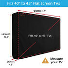 """40""""-65"""" TV Cover Outdoor Patio Flat LCD Screen Weatherproof Television Protector"""