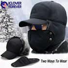 Men Winter Aviator Bomber Hat Trooper Ear Flap Snow Ski Elmer Fudd Mask Hood Cap