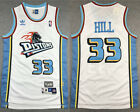 New Men's Detroit Pistons #33 Grant Hill basketball jersey retro mesh white on eBay