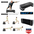 "27'' Fitness Aerobic Step Adjust 4"" - 6""  Exercise Stepper with Risers Home Gym image"