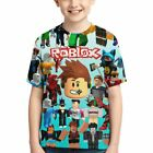 Roblox Characters Game Double-Side Print Kid Youth T-Shirt Short Sleeve Tops DIY