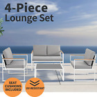 4pc Outdoor Furniture Patio Arm Set Garden Table Chair Bistro