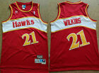BRAND NEW Dominique Wilkins #21 Atlanta Hawks Men's Reds Stitched Jersey on eBay