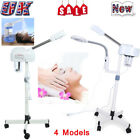 UK 2 In1 Facial Steamer LED 3X/5X Magnifying Floor Stand /Desk Face Steamer Spa