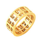 Fashion Abacus Ring Gold Plated Maths Number Rotatable Wedding Jewelry Gifts