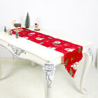 Christmas Table Runner Mat Tablecloth Christmas Flag Home Party Decorative