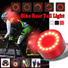 Bike Led Rear Tail Light Usb Rechargeable Bicycle Helmet Backpack Sport Red