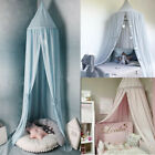 Bed Canopy Mosquito Net for Baby Crib, Round Dome Kids Indoor Outdoor Castle image