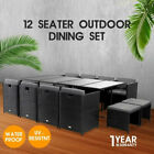 13pc Bali Outdoor Dining Furniture Set Wicker Garden Table&chairs