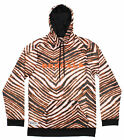 Zubaz NFL Football Men's Cincinnati Bengals Zebra Print Touchdown Hoodie $39.99 USD on eBay