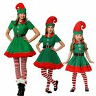 Kids Women Christmas Elf Fancy Dress Costume Xmas Cosplay Perform Costumes