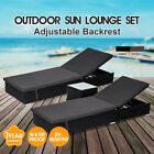 【20%OFF $184+】Outdoor Furniture PE Wicker Sun Lounge Pool Chair Becah Daybed