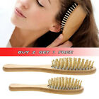 1PC Wooden Natural Bamboo Vent Comb Hair Brush Scalp Massager UK