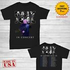 Billy Joel t Shirt In Concert Tour 2019- 2020 T-Shirt 2 side Men Black Size image