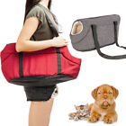 S/M Size Light Pet Carrier Tote Cat Dog Comfort Travel Bag Gray /Rose Red