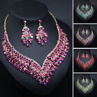 Indian Women Crystal Jewelry Sets Earring Necklace Set Wedding Party Jewellery