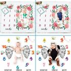 Milestone Photography Newborn Baby Blanket Monthly Flowers Numbers Photo Prop