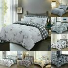 LUXURY BEDDING SET PRINTED DUVET COVER 100% COTTON 200TC DOUBLE SUPER KING SIZES