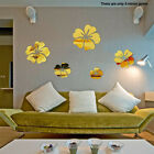 3d Hibiscus Mirror Surface Diy Living Room Acrylic Decorations Wall Sticker