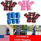 6Pcs Kids Sports Skating Protective Gear Set Scooter Safety Pad Knee Elbow Wrist image