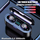 Wireless Bluetooth 5.0 Headphones TWS Earbuds Earphones Powerbank Android IOS
