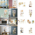 Creative  Vase Flower Background  3d Wall Stickers Decal Home Living Room Decor