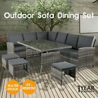 【20%OFF $629.56】9 Seater Outdoor Dining Furniture Set Wicker Table & Chairs Gard