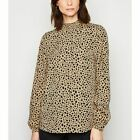 New Look Tall  Animal Print Shirred Neck Top