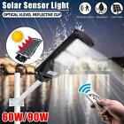 120W LED Solar Street Wall Light Radar Induction Outdoor Timing Lamp+Remote