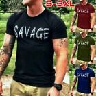 Plus Size Summer Men's Short Sleeve Shirts Savage Slim T-shirt Casual Sport Tops