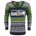 FOCO NFL Women's Seattle Seahawks Big Logo Aztec V-Neck Sweater $39.99 USD on eBay