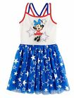 Disney Girls Minnie Mouse Red White & Blue Patriotic Star Strappy Dress