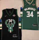 #34 Giannis Antetokounmpo Milwaukee Bucks Stitched Green / Black Mens Jersey