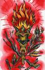 Runic Torch by Quinn Unframed Rolled Canvas or Paper Wall Art Print