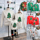 UK Hot Christmas Family Matching Jumper Sweaters Xmas Parent-child Pullover