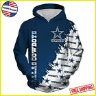 Hoodie 3D Dallas Cowboys NFL Football Team Solid Color Pullover Made In USA $50.99 USD on eBay
