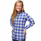 FOCO MLB Kansas City Royals Women's Wordmark Basic Flannel Shirt on Ebay