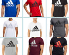 Adidas Men Badge of Sport Short Sleeve Essential Logo Graphic Crew Neck T Shirt