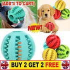 Pet Dog Puppy Teething Dental Health Treat Clean Toy Durable Rubber Ball Chew HH