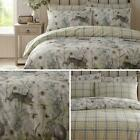 RABBIT MEADOW Duvet Cover Sets Single  Double  King   Sage Green