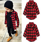 US STOCK Baby Kids Boys Girls Long Sleeve Casual T Shirt Tops Blouse Clothes