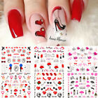 Nail Water Decals Valentine's Series Nail Art Transfer Stickers Heart Girls Tips
