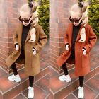 Toddler Baby Girls Long Sleeve Winter Coat Solid Windproof Warm Outerwear Jacket