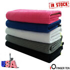 New Large Waffle Microfiber Golf Towel 14 x 42 Hook to Bag Christmas Gifts Best