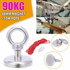 90-500kg Pull Salvage Strong Recovery Magnet Fishing Treasure Neodymium Rope UK