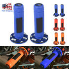 """1pair Motorcycle ATV Scooter Dirt Pit Bike 7/8"""" 22MM Hand Grips Rubber Handlebar image"""